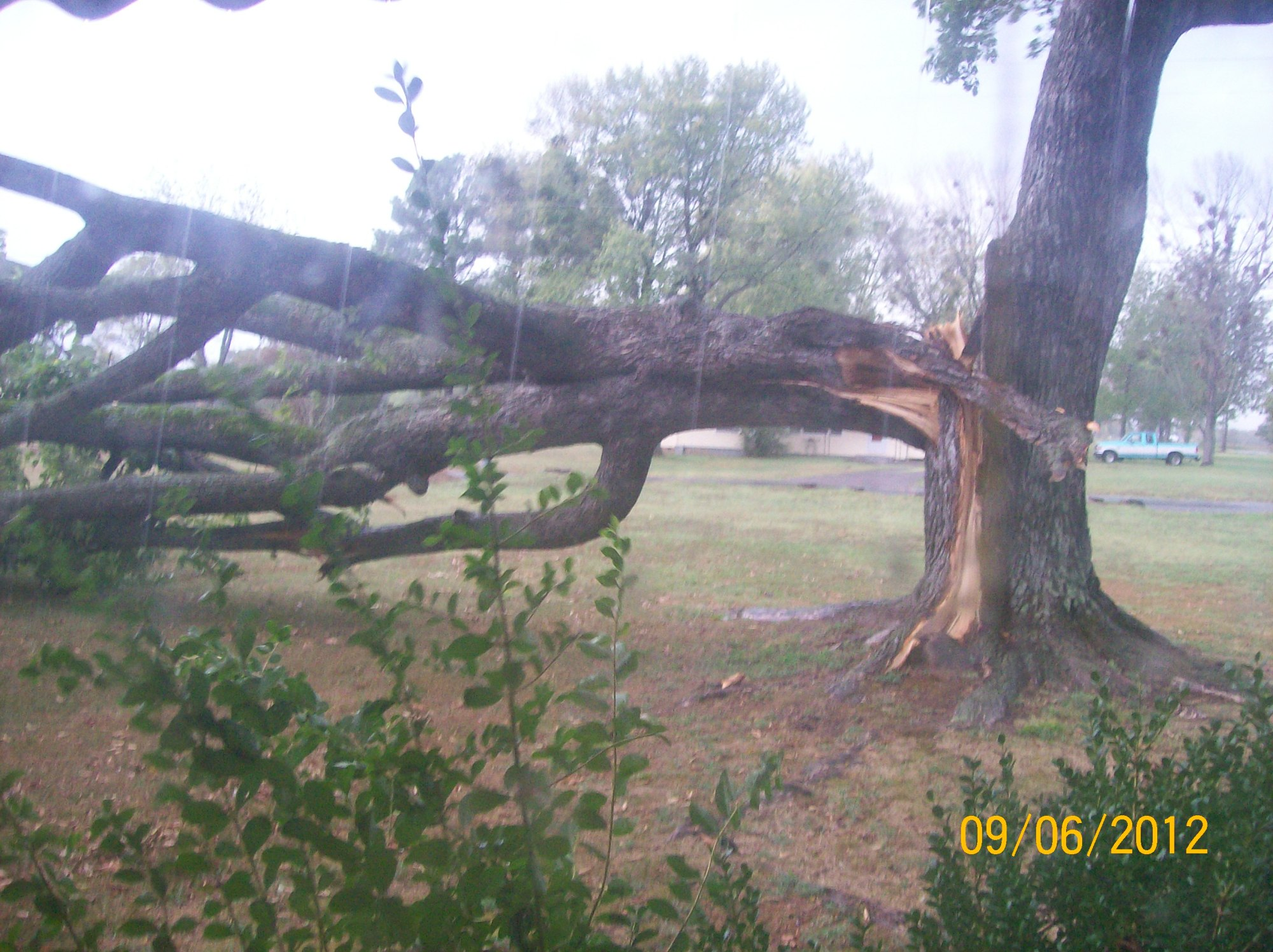 Wind damage:  Lavaca