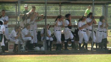 The Bentonville softball team looks on during Saturday's 4-3 loss to Vilonia in the River City Rumble in Van Buren.