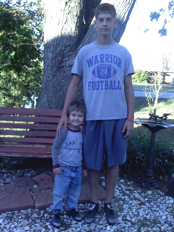 Caleb Linn and a family member