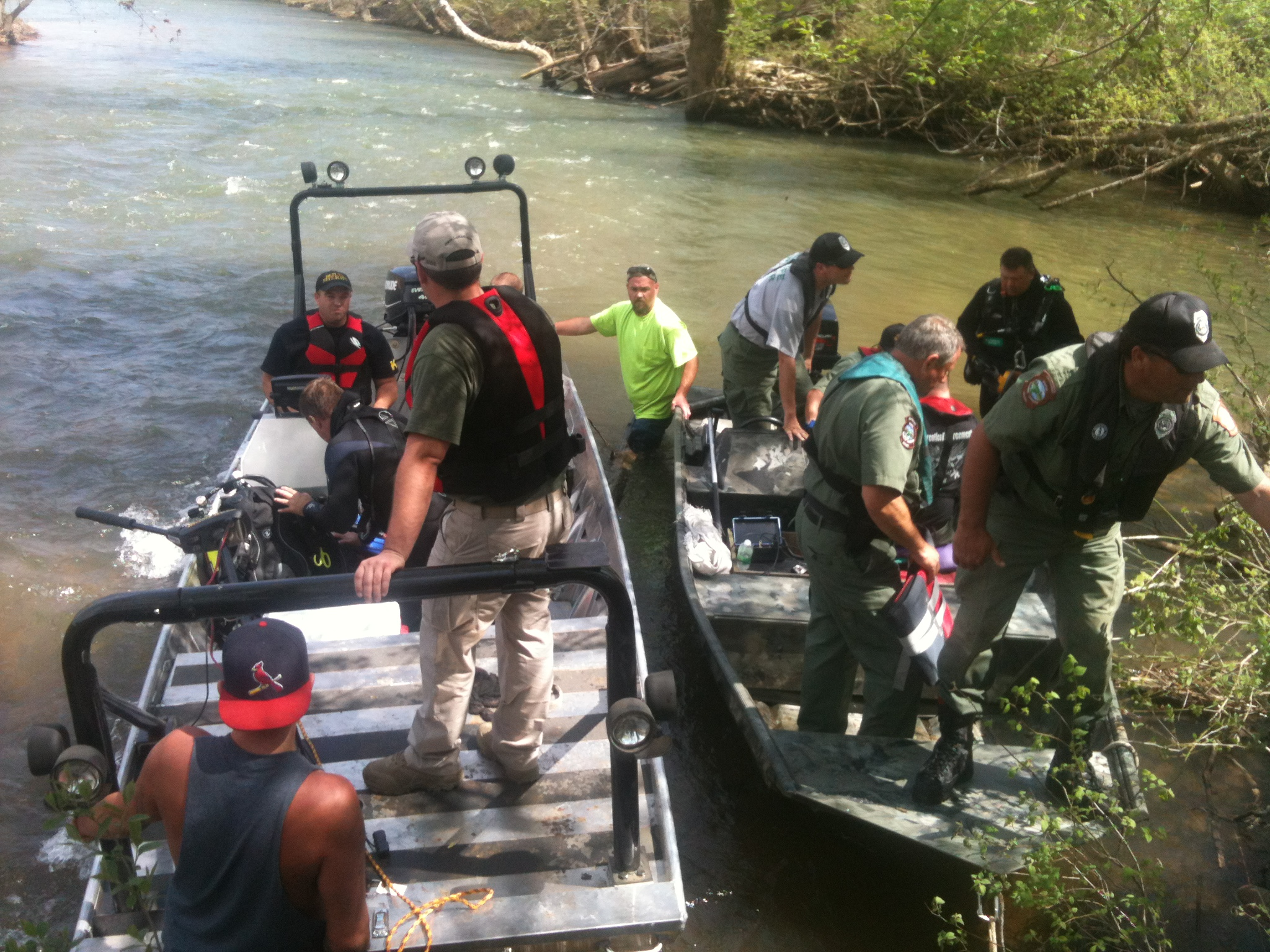 Crews search for Caleb by water