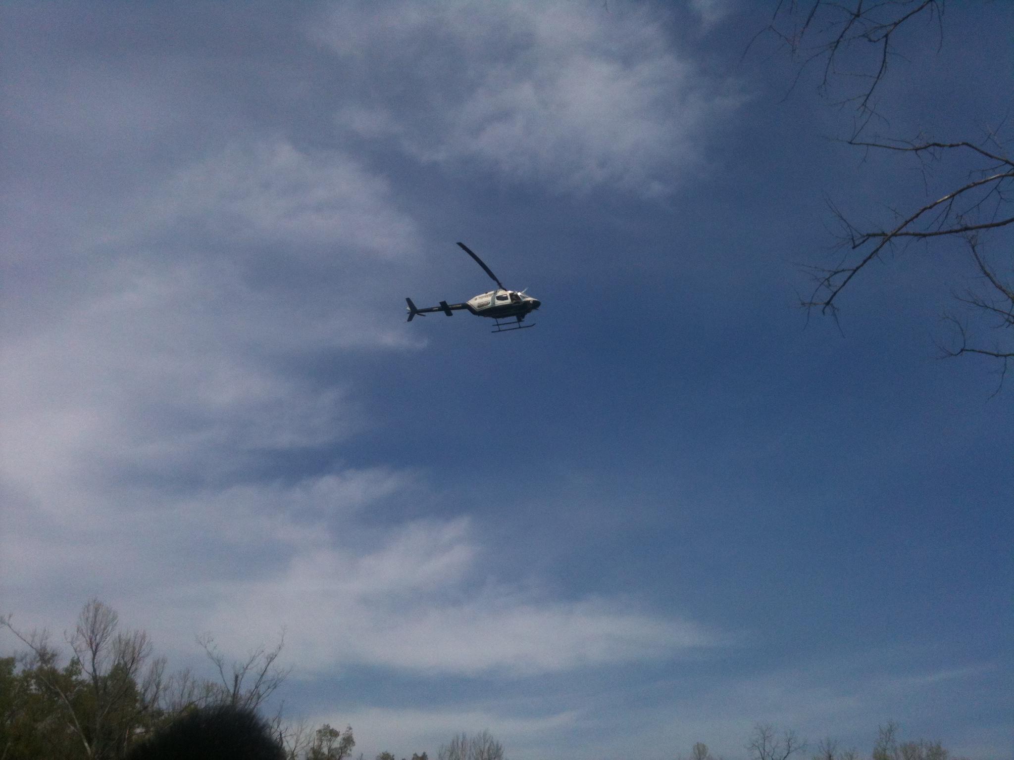 Crews search for Caleb by air