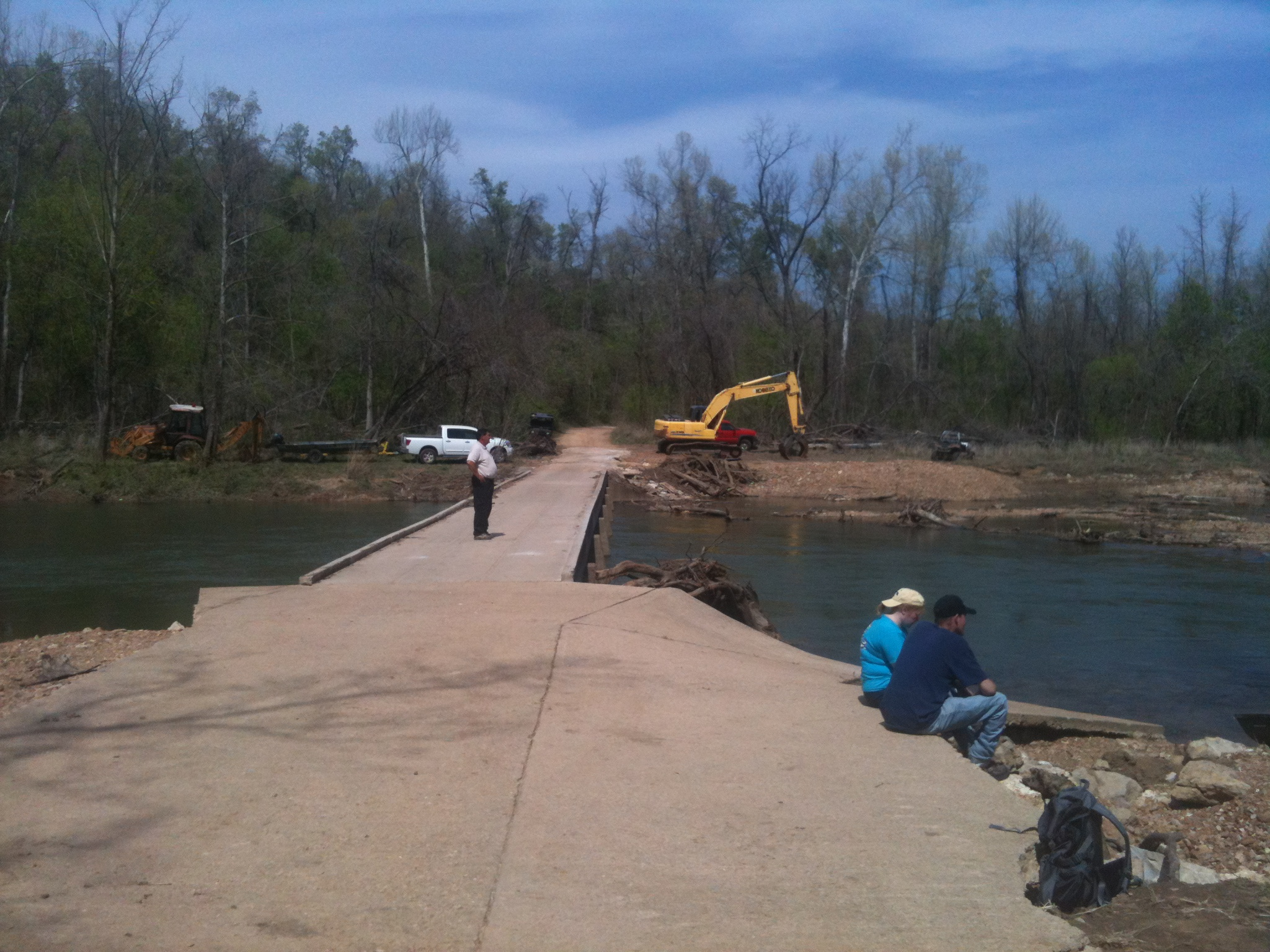 Bridge site on South Fork River where Caleb went missing