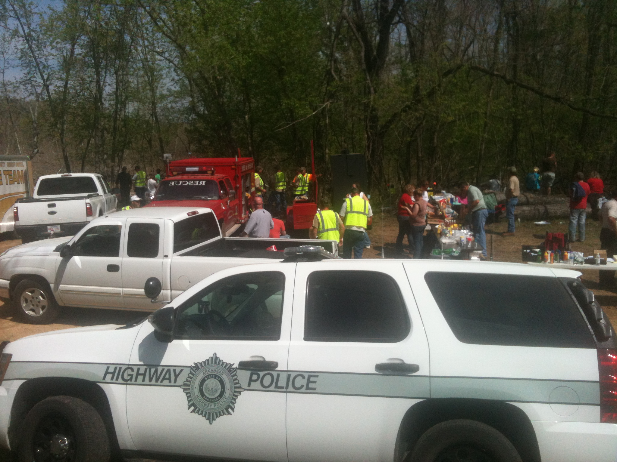 Sheriff's officials from several counties joined the search