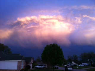 Clouds going over Greenwood 3-22-12