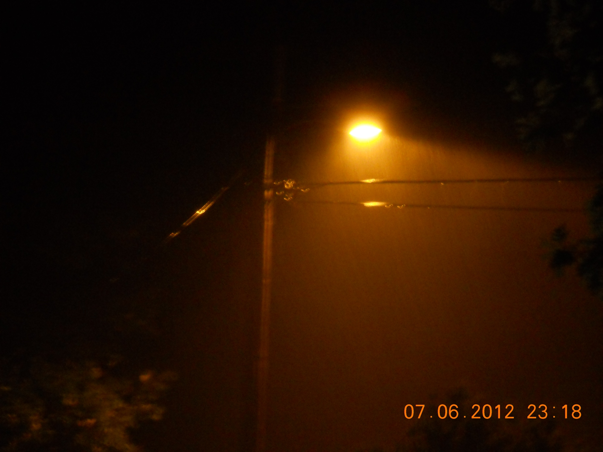 Night rain in West Fork, AR