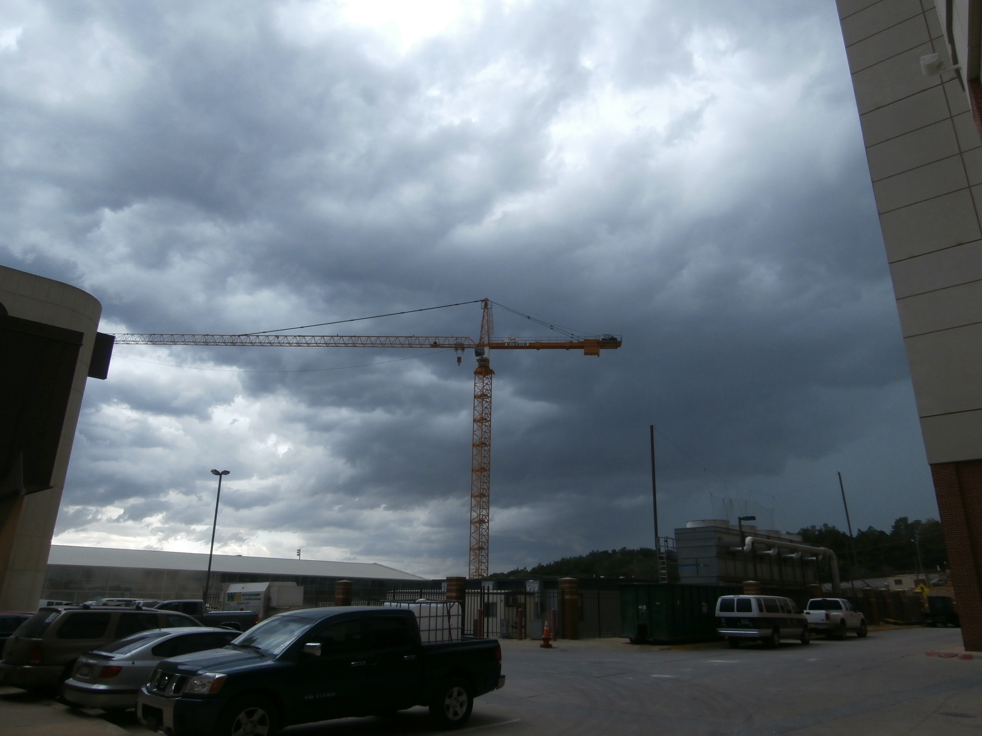 Storm clouds over future Razorback Football Center