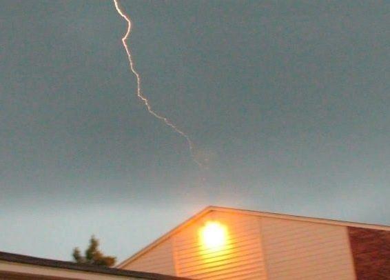 Lightning over apt-Van Buren 4.3.12