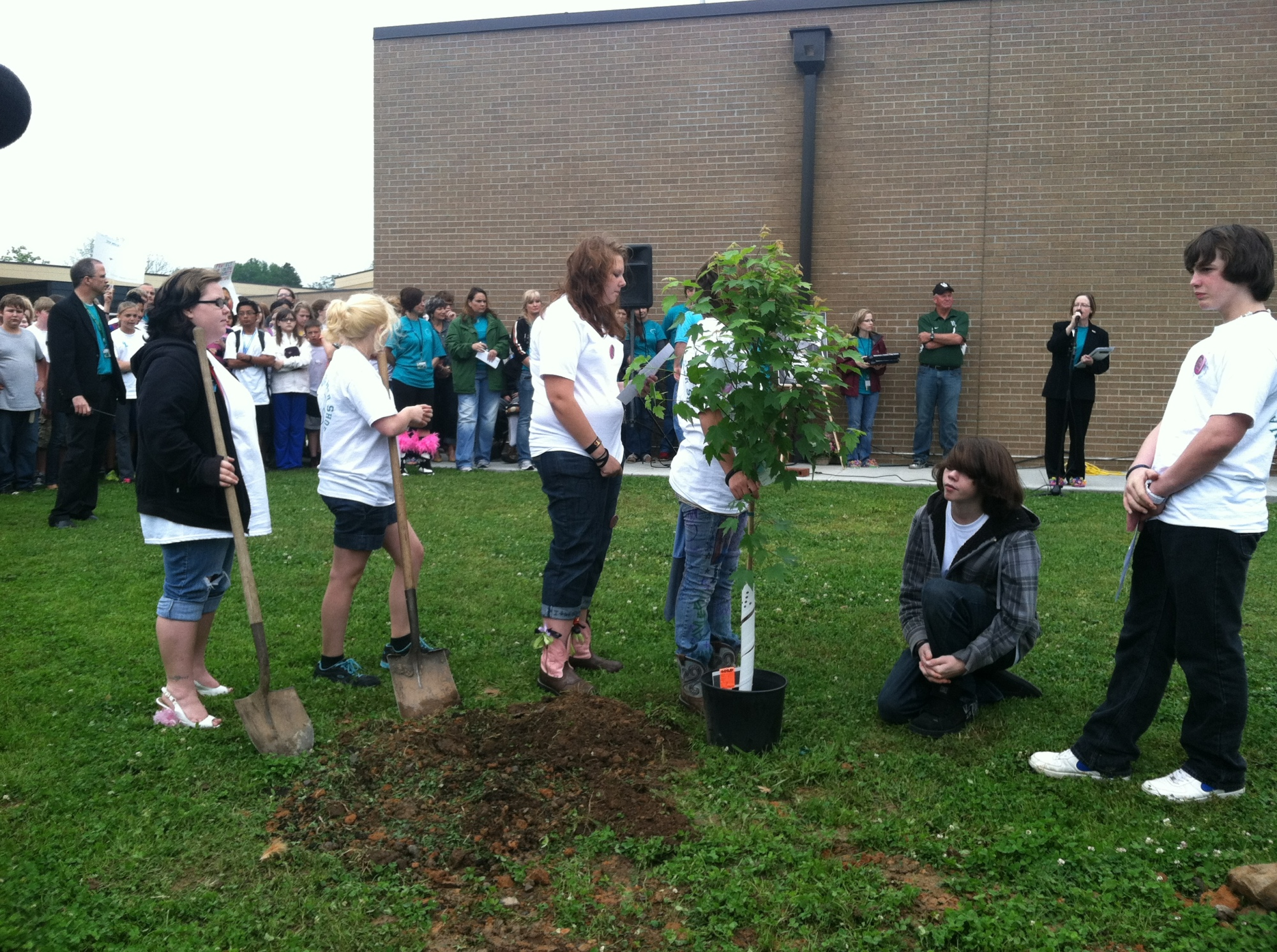 A tree was planted in Angela Allen's honor