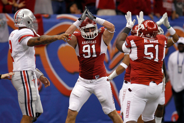 Former Hog Jake Bequette becomes the second Razorback in three seasons to be drafted by the Patriots.