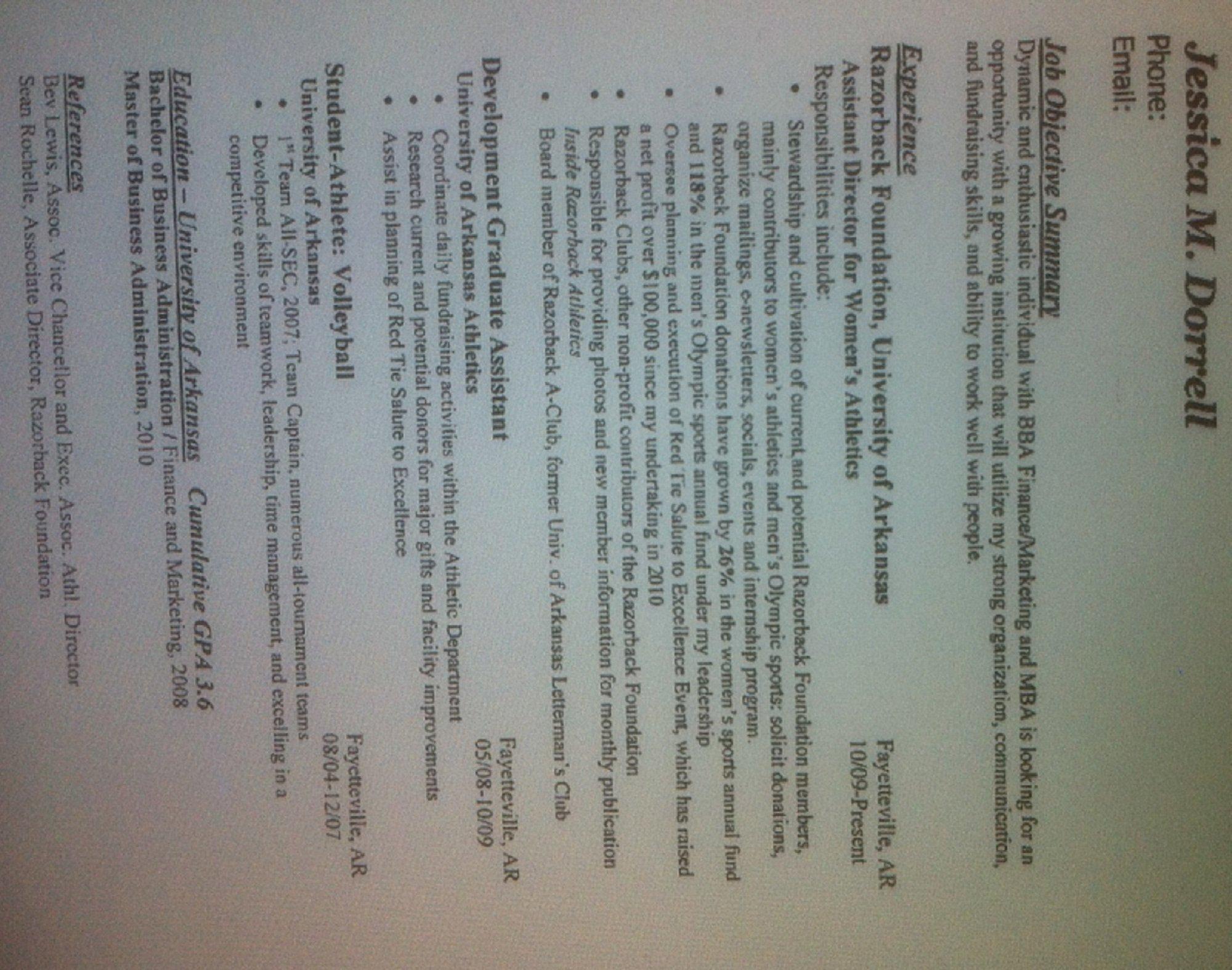 Jessica Dorrell\'s Resume | Fort Smith/Fayetteville News ...