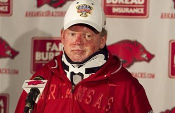 Will Bobby Petrino coach at Arkansas again?