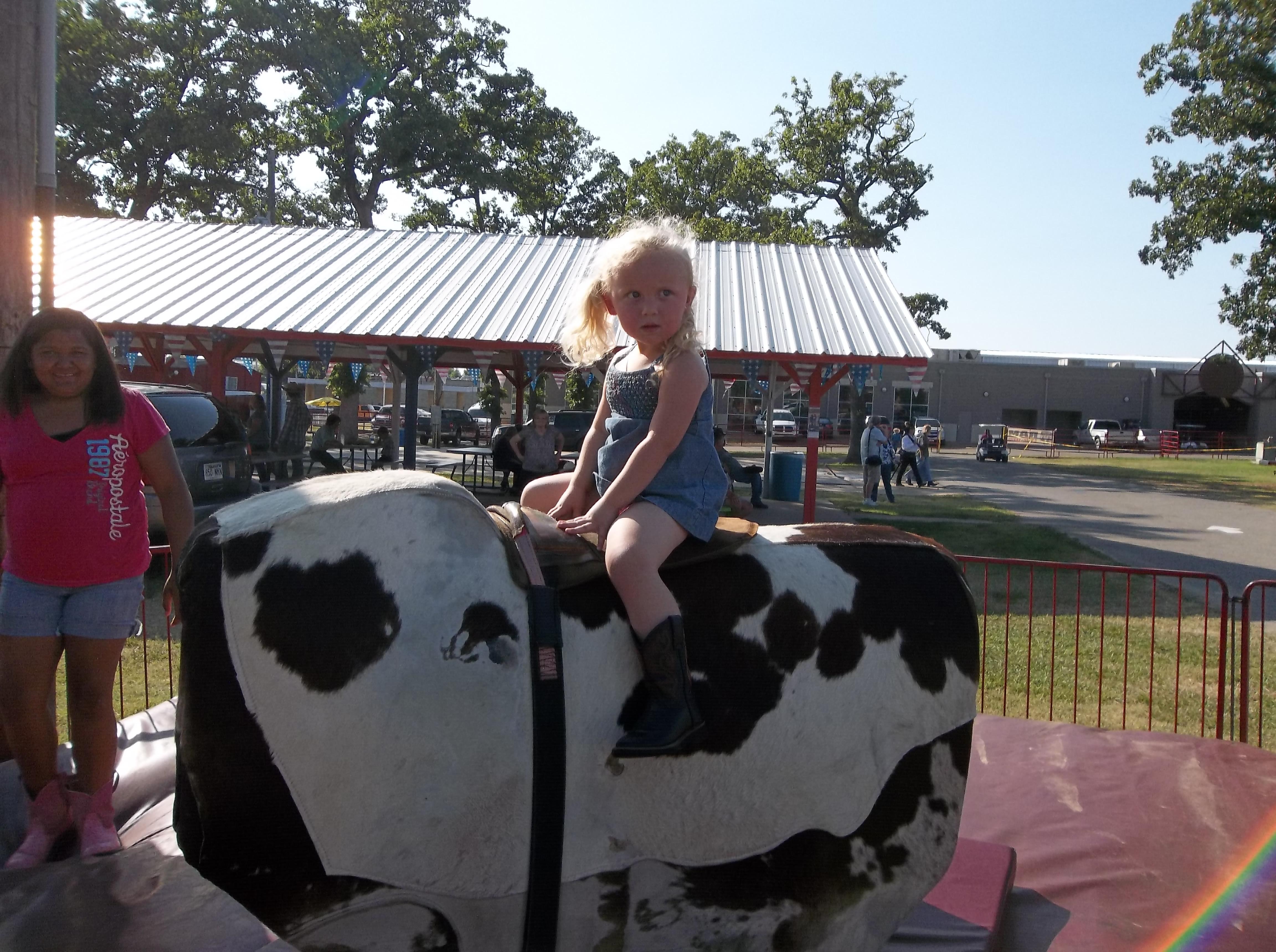 Abbi having fun at Old Fort Days Rodeo - Brenda