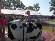 Abbi having fun at Old Fort Days Rodeo - Brenda