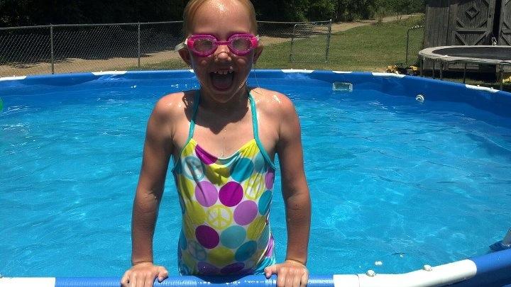 Enjoying the pool - Amanda Davis