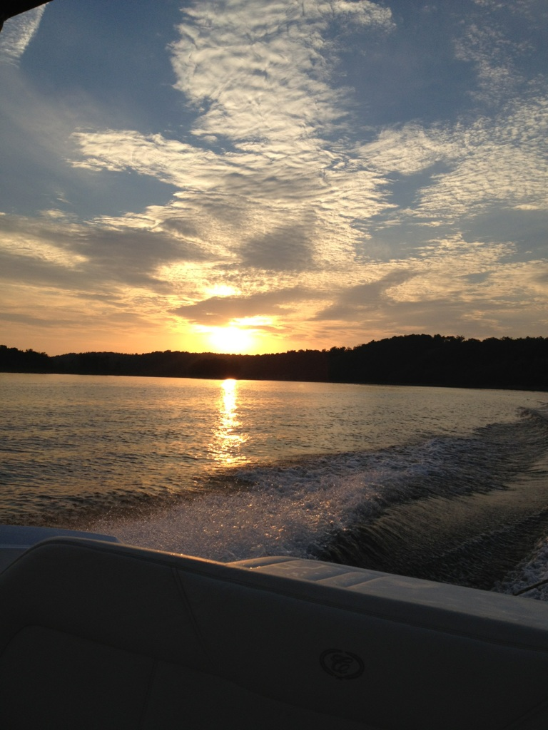 Sunset on Beaver Lake - Myra Braselton