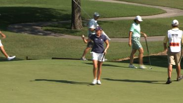 Stacy Lewis shot a two-under-par 68 in the second round of the Northwest Arkansas Championship.