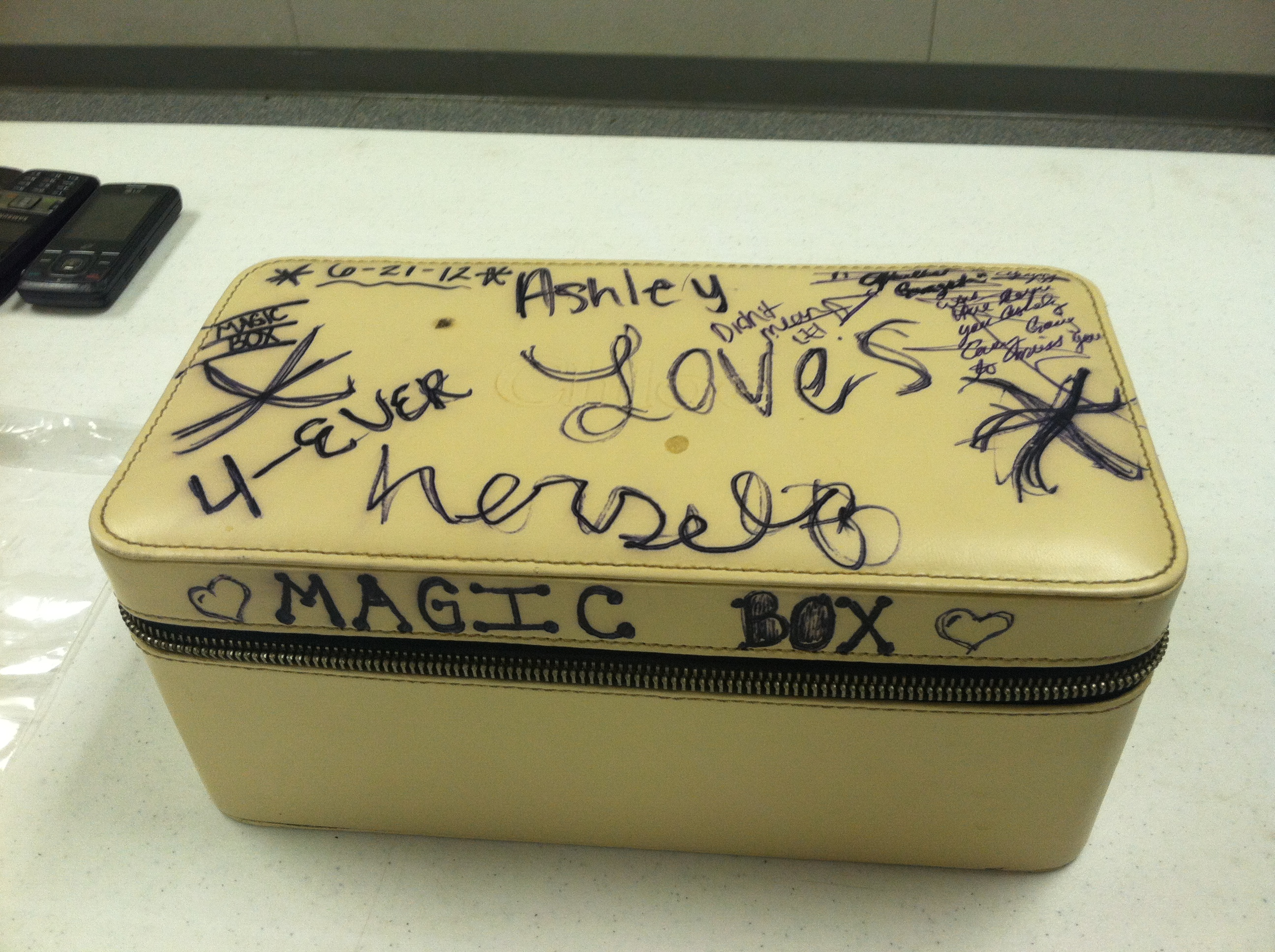 Deputies say the suspects hid drugs in this child's box