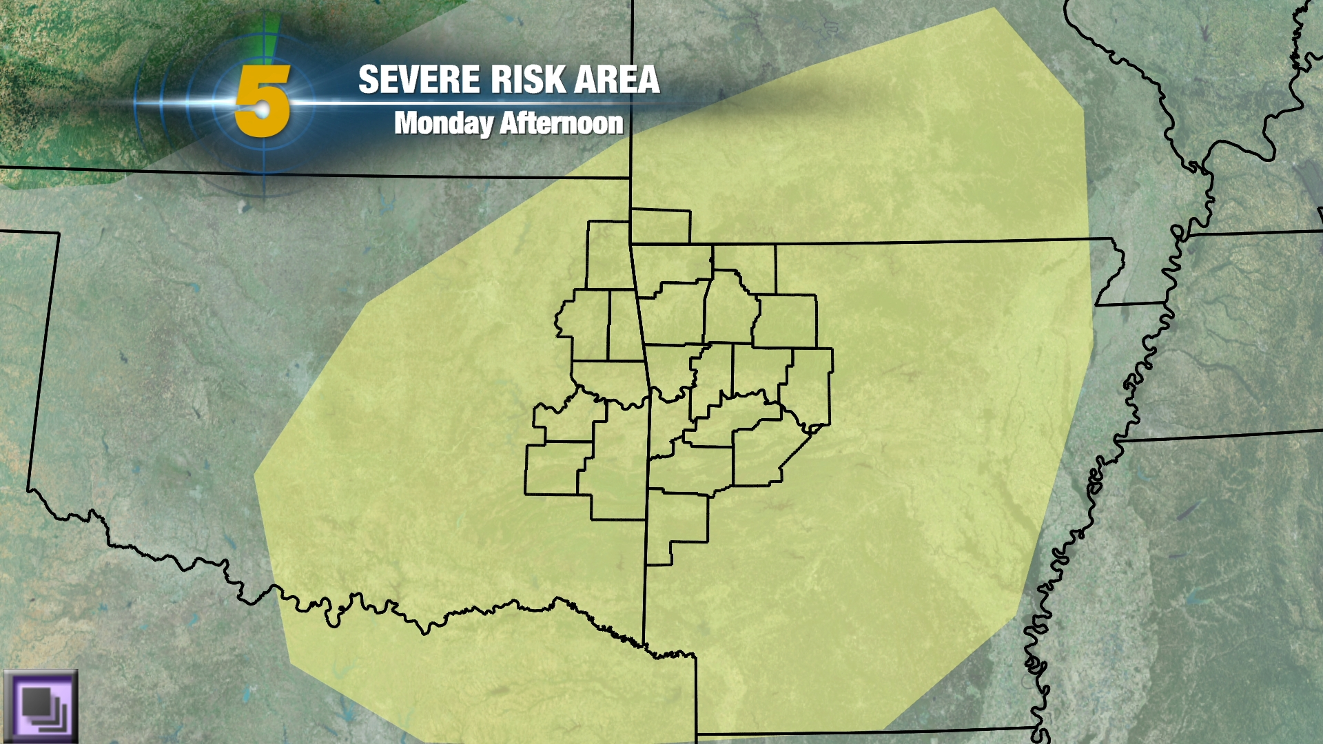 monday severe threat
