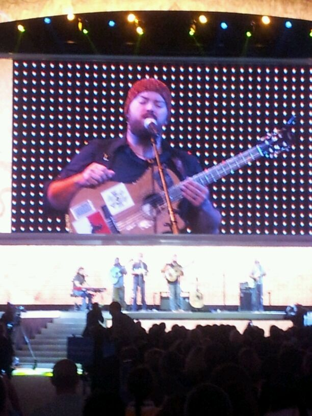 The Zac Brown Band performs at the 50th Anniversary Walmart Shareholders' Meeting.