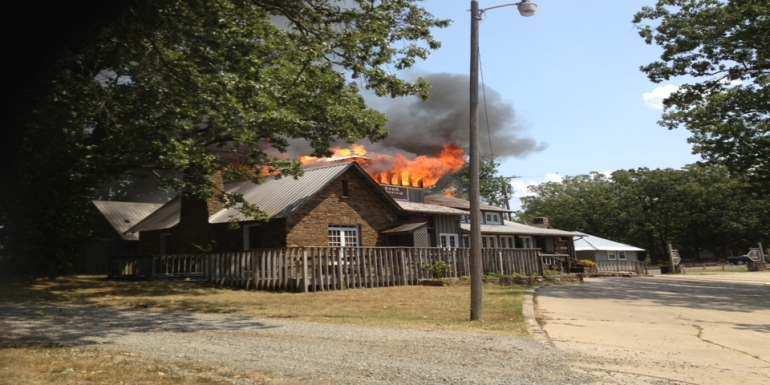 Ozark Mountain Smokehouse fire