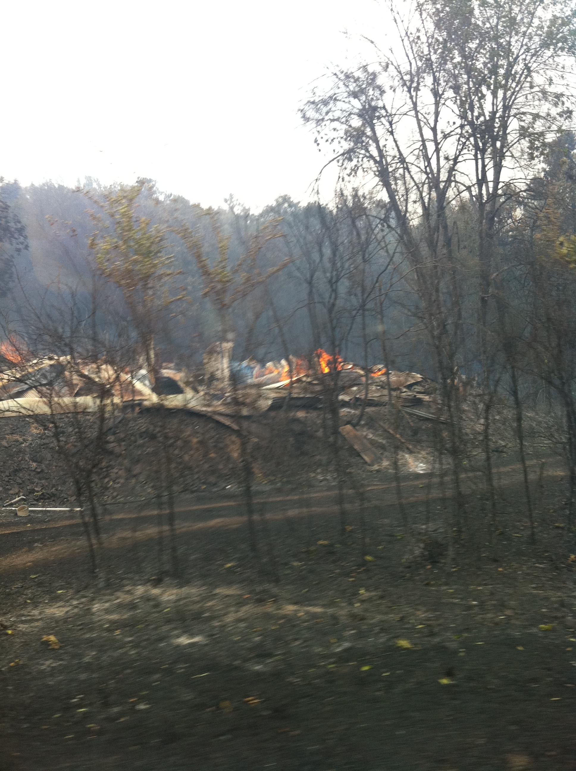 Clarksville fire, July 7 courtesy Rae Lyn