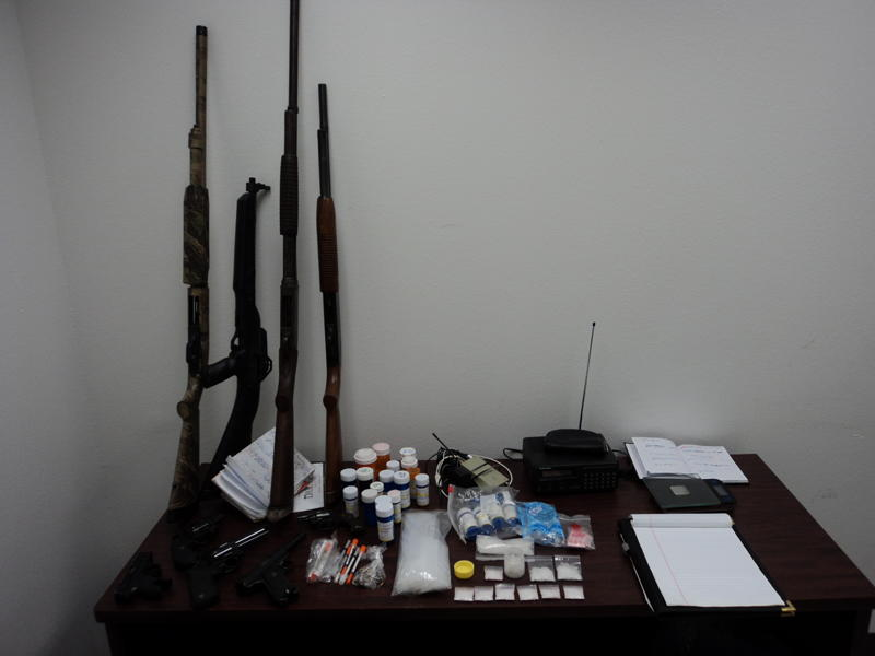 Items seized during arrest