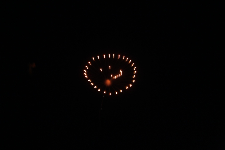 Smiley Face Firework from Greenwood Show