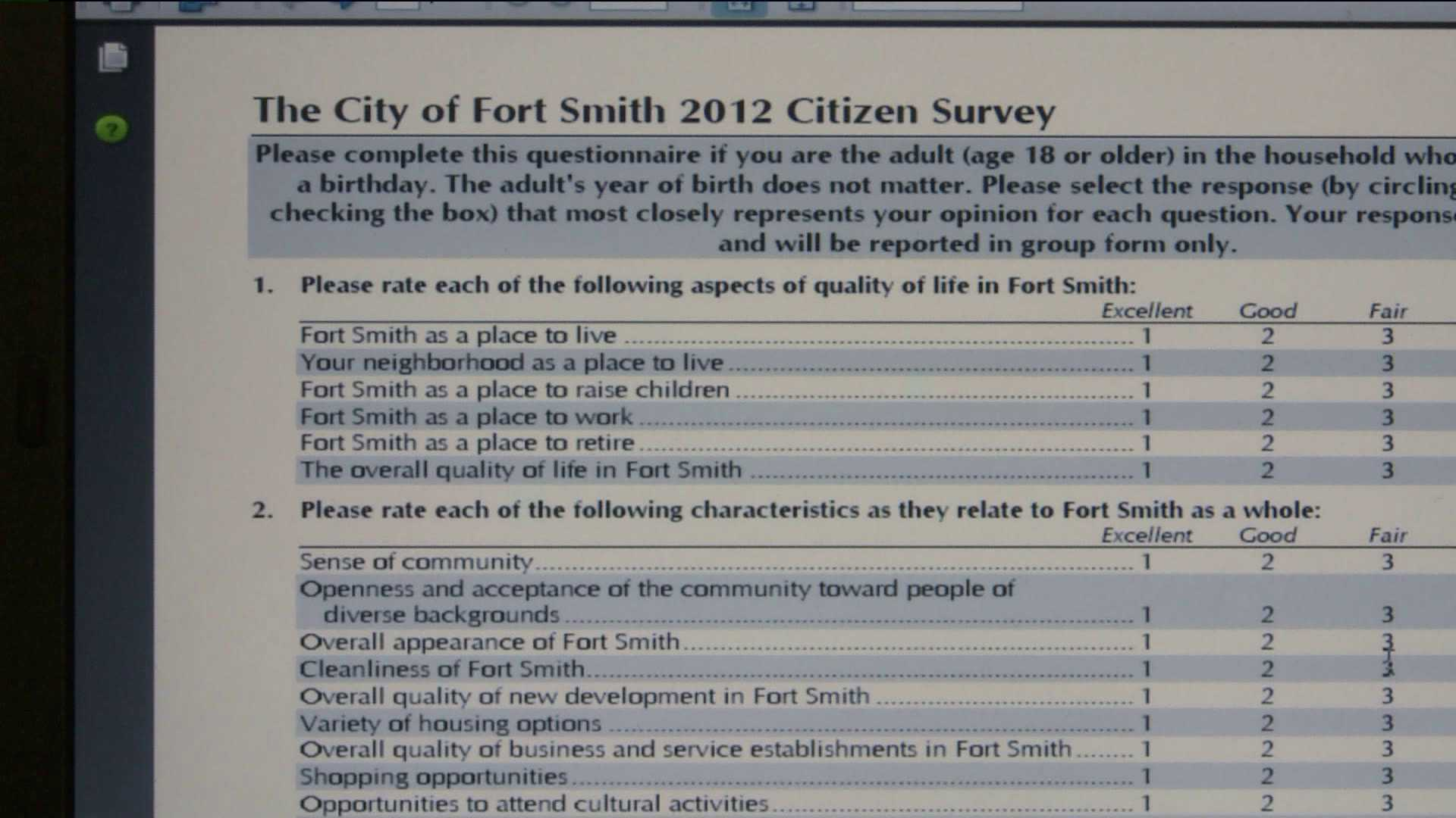 Fort Smith Survey