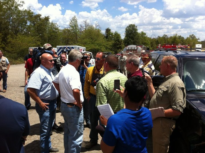 Gov. Beebe in Yell County - Courtesy Yell County Sheriff's Office Facebook page