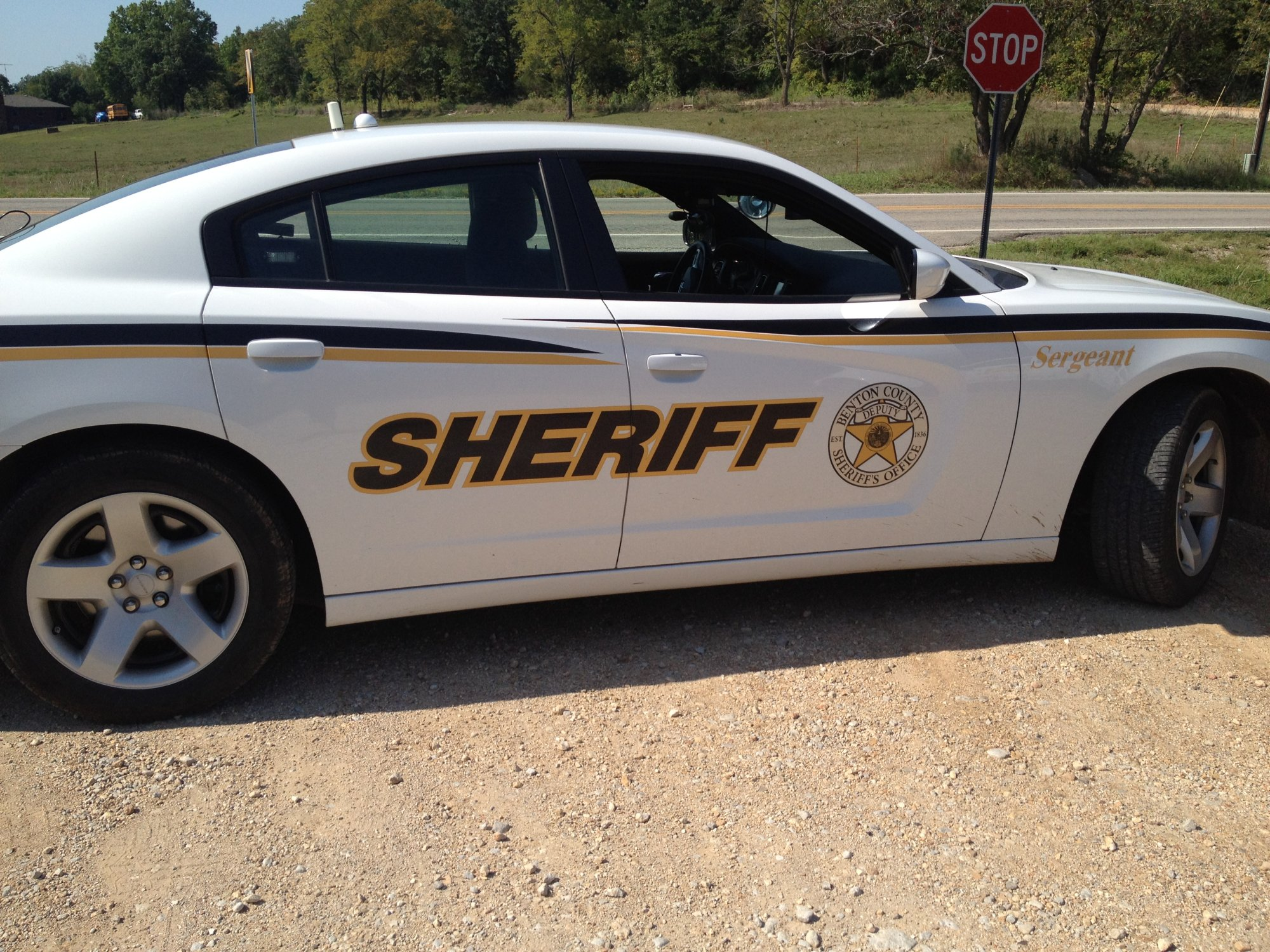 Patrol cars surround school