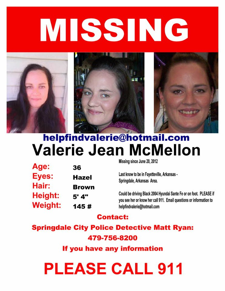 Valerie Jean McMellon Missing Poster
