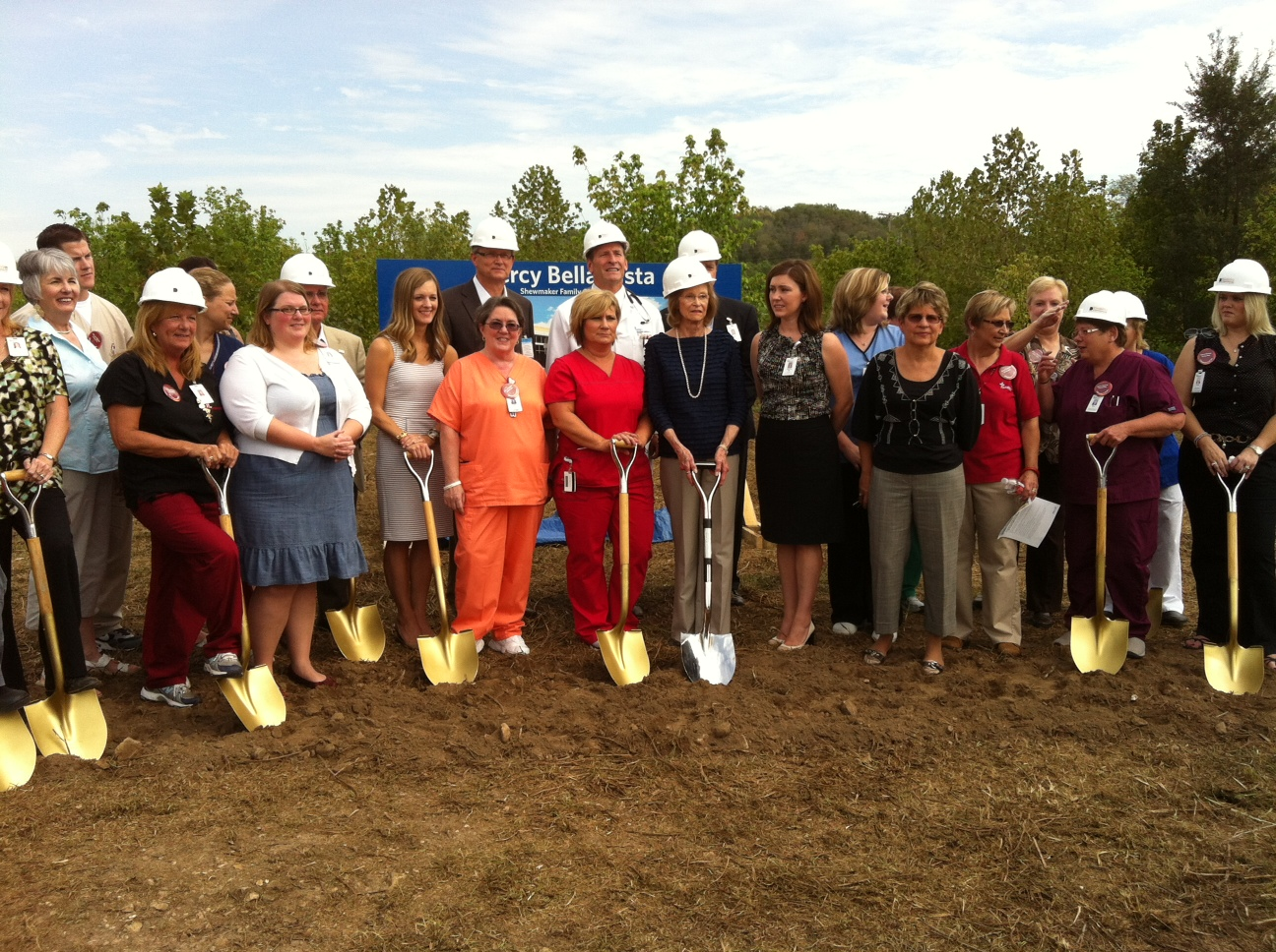 Mercy Bella Vista Groundbreaking, photo courtesy Martine Pollard