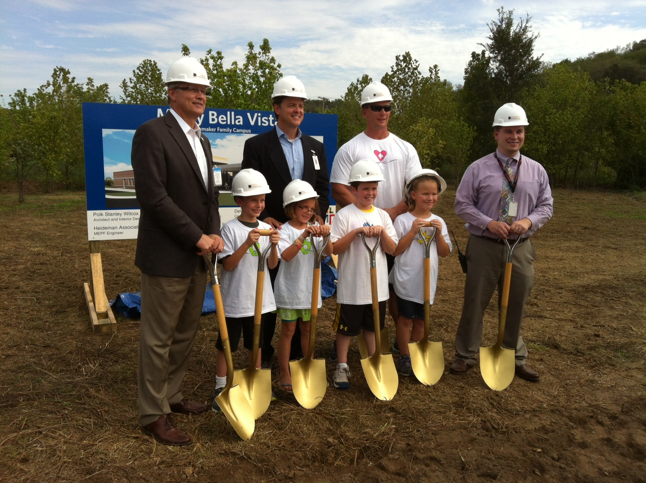 Cooper Elementary students at Mercy Bella Vista groundbreaking, photo courtesy Martine Pollard