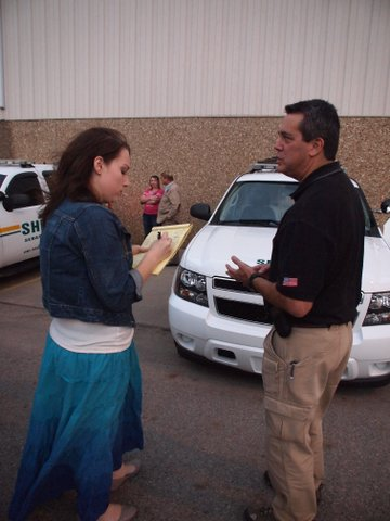 5NEWS Web Producer Alicia Agent interviews Sheriff Bill Hollenbeck