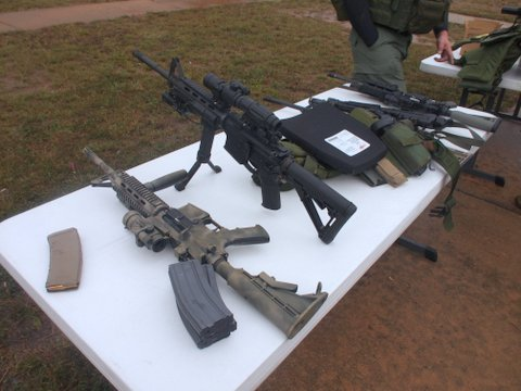 The Sheriff's Office shows off their weapons