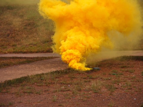 Explosive used to camouflage SWAT officers