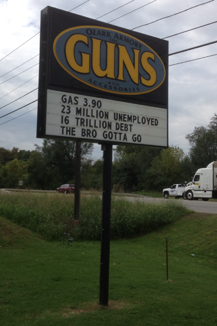 Gun Store Sign Attacking Obama Called Unbelievable Fort Smith