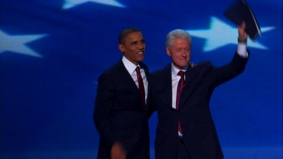 Obama and Clinton at DNC