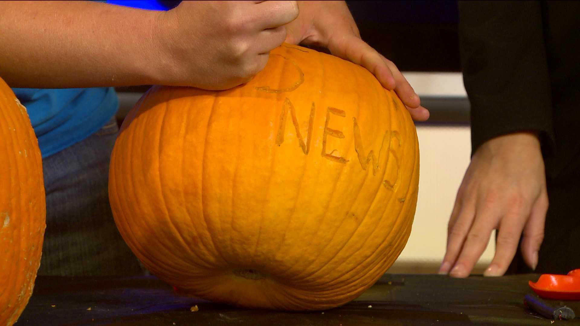 5NEWS Gets its own Pumpkin.