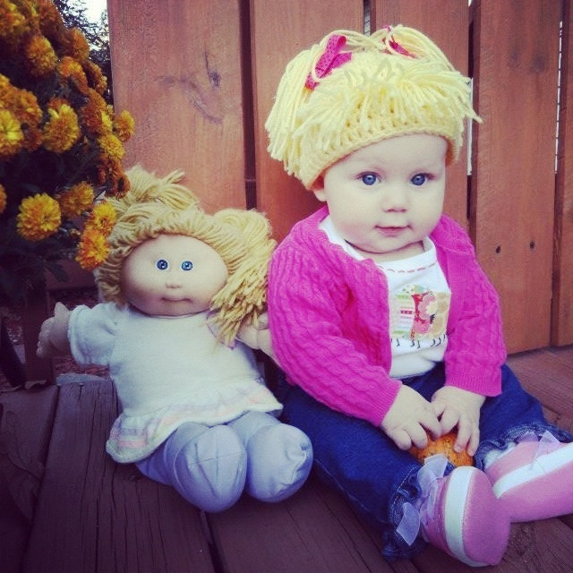 The cutest little Cabbage Patch Doll ever!