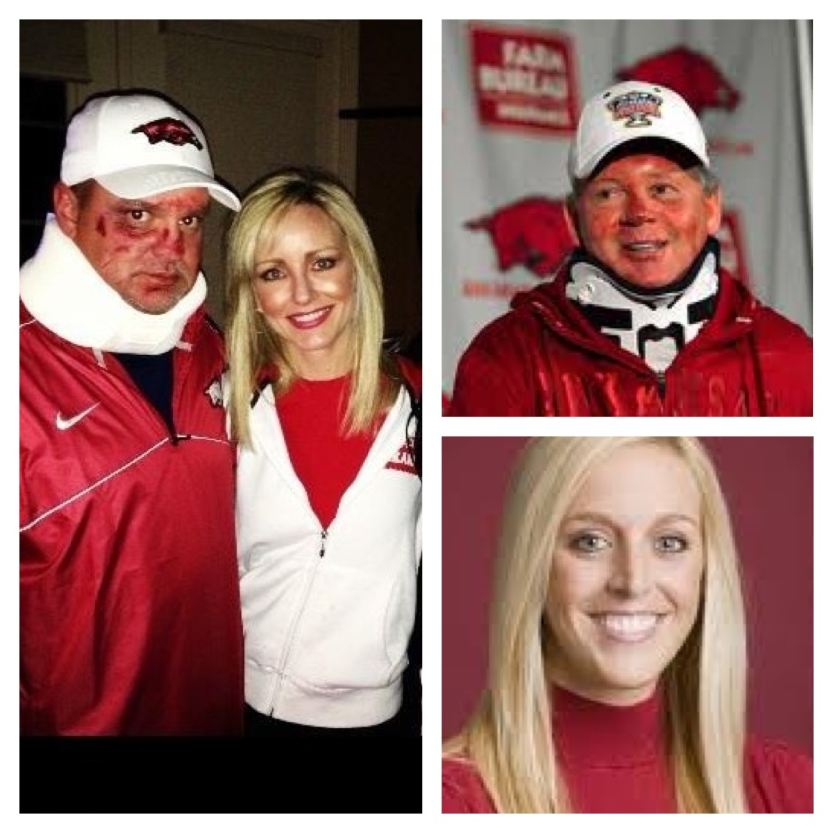 Dr David and Jennifer Furr as Bobby Petrino and Jessica Dorrell