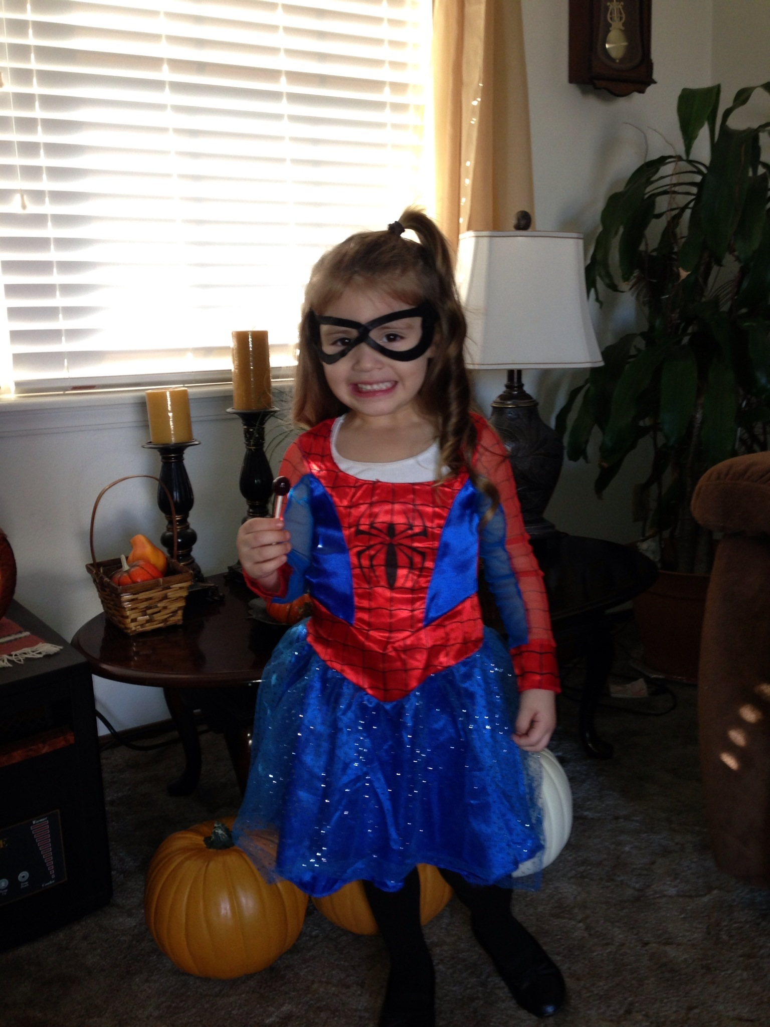 Lacey, spider girl!