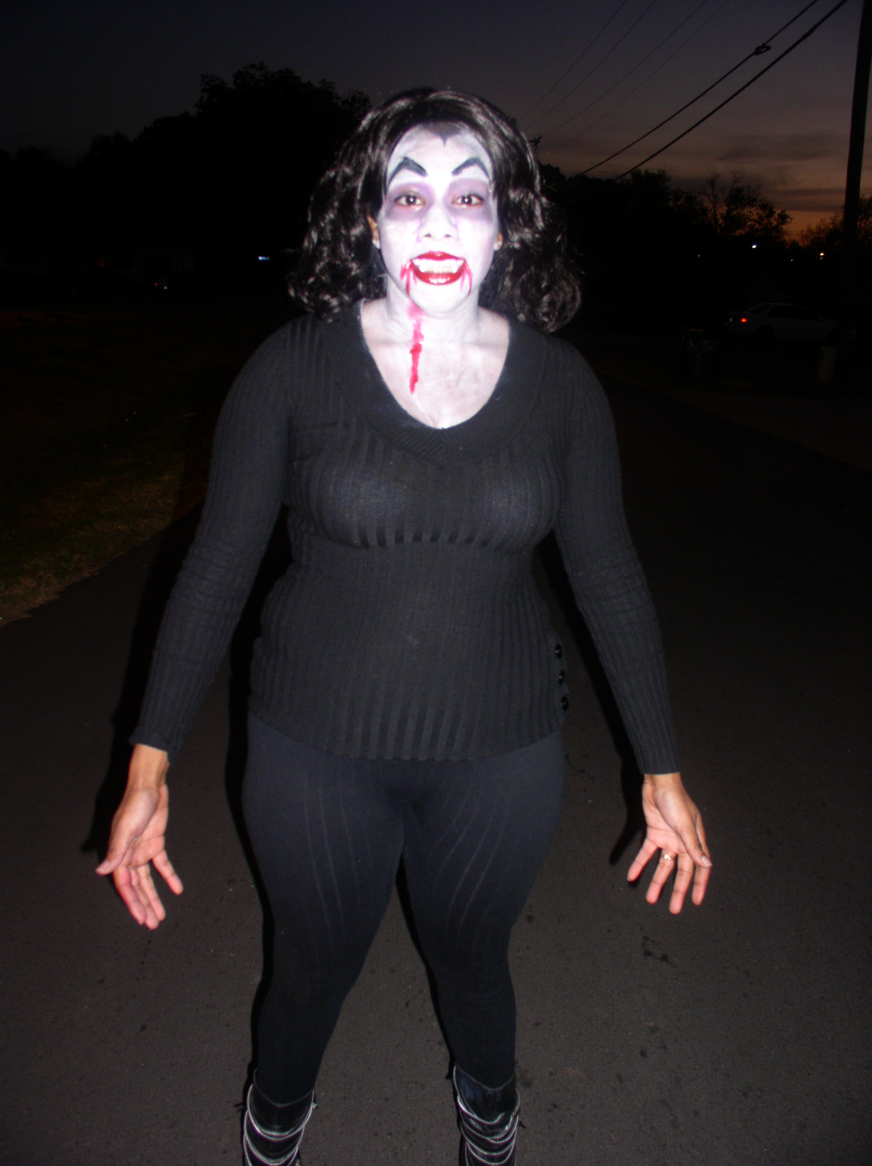 My daughter the vamp