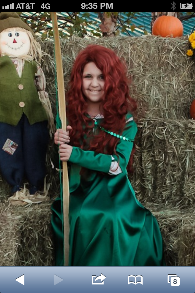 Mercedes as Merida from the movie Brave taken at Grace Community