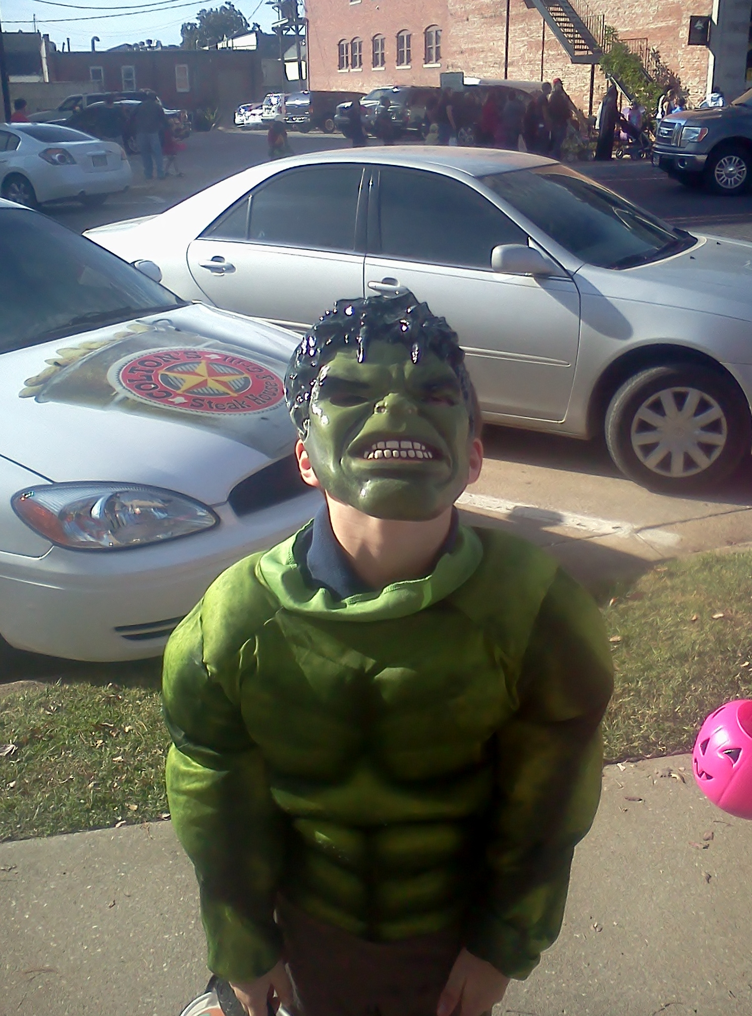 Hulk for Halloween at Downtown Rogers Goblin Parade 2012