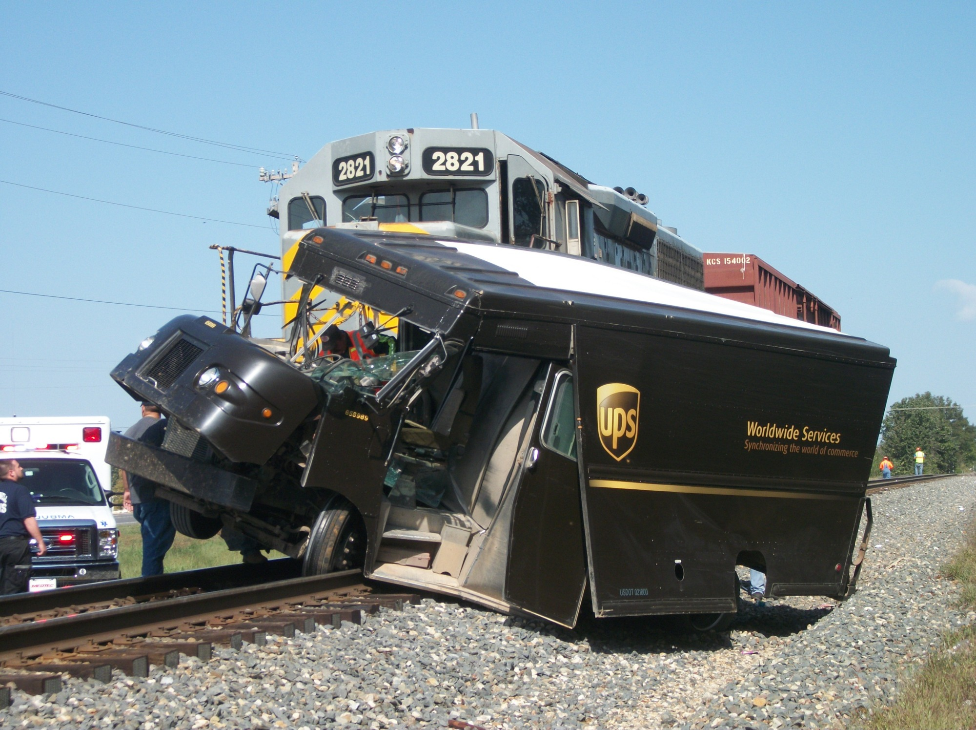Stilwell train accident - Photos taken by Darrell Neale, Stilwell Democrat-Journal