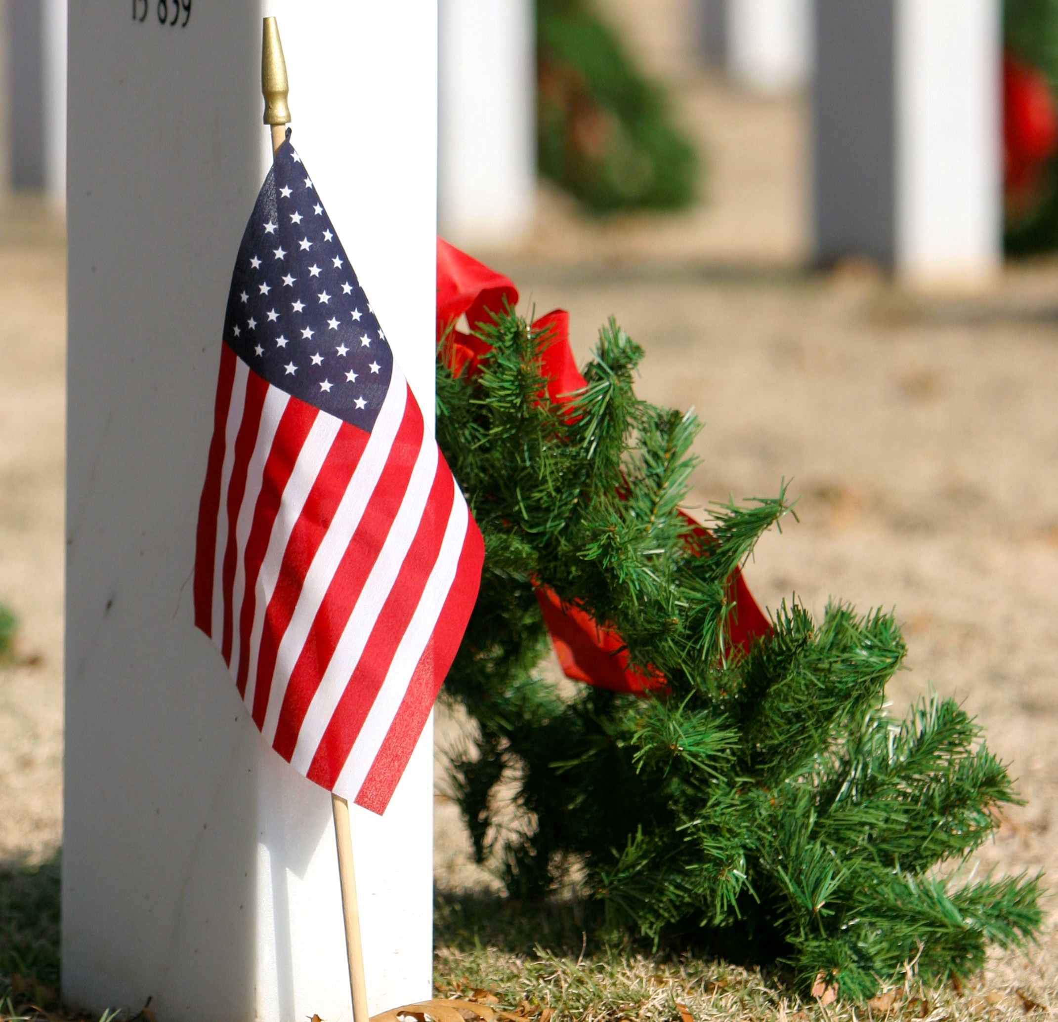 Wreaths laid at graves to remember and honor veterans