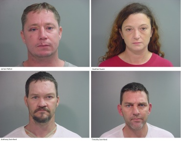 capital murder suspects four-square