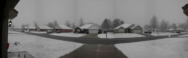White Christmas Panorama