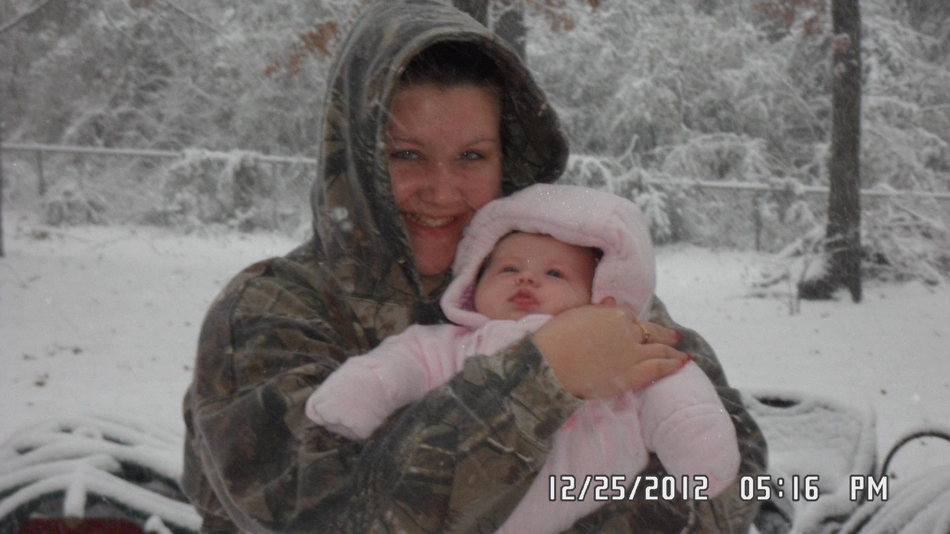 My baby girls first white christmas!